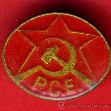 Pins de colección: PIN PUBLICIDAD POLITICA PCE , PARTIDO COMUNISTA DE ESPAÑA , REVERSO AGUJA, ORIGINAL ,FA. Lote 113040390