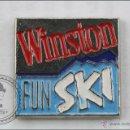 Pins de colección: PIN DE PUBLICIDAD WINSTON - FUN SKI - MEDIDAS 17 X 16 MM - #PLS. Lote 44035819