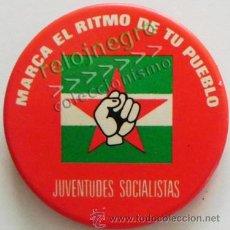 Pins de colección: CHAPA CON IMPERDIBLE DE LAS JSA JUVENTUDES SOCIALISTAS ANDALUCÍA - SOCIALISMO POLÍTICA PSOE NO PIN. Lote 44803613