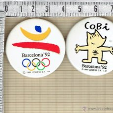 Spille di collezione: PAREJA DE CHAPAS BARCELONA`92 Y COBI.. Lote 44834189