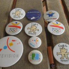 Pins de colección: LOTE DE CHAPAS DE AGUJA COBI EXPO 92. Lote 45498282