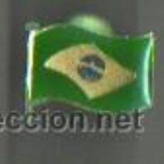 Pins de colección: PIN CLIP BANDERA DEL BRASIL. Lote 45680506