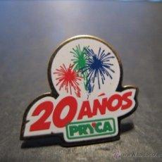 Pins de colección: PIN PRYCA 20 AÑOS ANIVERSARIO COMERCIOS. Lote 46044386