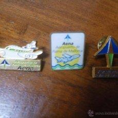 Pins de colección: 3 PINS AENA AEROPUERTO PALMA DE MALLORCA. Lote 46209894