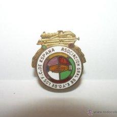 Pins de colección: ANTIGUA INSIGNIA Y RARA ESMALTADA....ASOCIACION GRAL. DE E. Y O. DE LOS F.C. DE ESPAÑA.. Lote 46234336