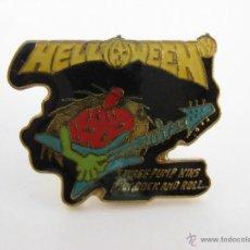 Pins de colección: PIN HEAVY METAL ALEMAN HELLOWEEN. Lote 217780683