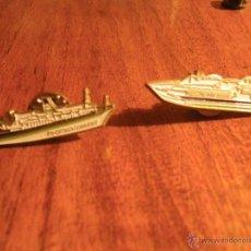 Pins de colección: 2 PINS BARCOS TRANSMEDITERRANEA. Lote 46334220