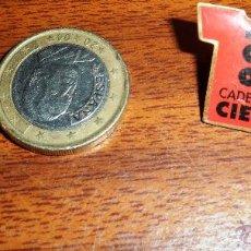 Pins de colección: PIN CAMISETA CADENA 100. Lote 46356726