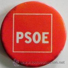 Pins de colección: CHAPA CON IMPERDIBLE PSOE PARTIDO POLÍTICO SOCIALISTA CHAPITA PUBLICIDAD POLÍTICA SOCIALISMO -NO PIN. Lote 46385111