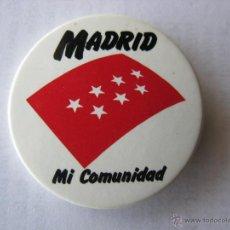 Pins de colección: CHAPA/CHAPAS PIN/PINS. MADRID. MI COMUNIDAD.. Lote 46411954