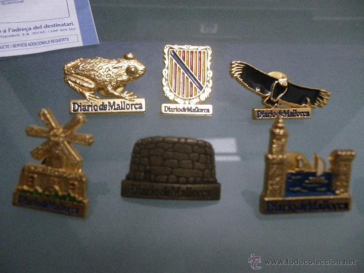 6 PINS DE DIARIO DE MALLORCA: 3 MONUMENTOS, 2 NATURALEZA Y UN ESCUDO. (Coleccionismo - Pins)