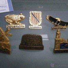 Pins de colección: 6 PINS DE DIARIO DE MALLORCA: 3 MONUMENTOS, 2 NATURALEZA Y UN ESCUDO.. Lote 46497773