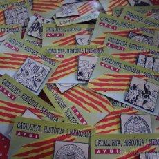 Pins de colección: LOTAZO 29 PINS CATALUNYA HISTORIA Y MEMORIS DEL DIARIO AVUI NUEVOS. Lote 46719200