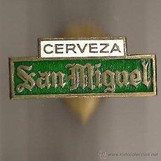 Pins de colección: ANTIGUO PIN INSIGNIA DE OJAL PARA SOLAPA CERVEZA SAN MIGUEL - PINS BROCHE INSIGNIAS BEBIDAS . Lote 47027844