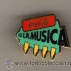 Pins de colección: PIN - COCA COLA ES LA MÚSICA. Lote 47422059