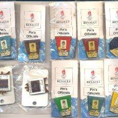 Pins de colección: OFERTA 10 PIN'S LA OLIMPIADA FEBRERO 1992 RENAULT. Lote 107919539