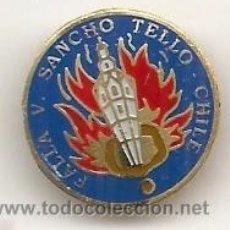 Pins de colección: FALLAS DE VALENCIA. ANTIGUA INSIGNIA ESMALTADA DE FALLA SANCHO TELLO CHILE. Lote 221944977