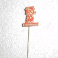 Pins de colección: PIN. LOS PICAPIEDRA. INSIGNIA DE AGUJA PARA SOLAPA. BAM-BAM. MELIOR AMSTERDAM, 1966. Lote 48951342