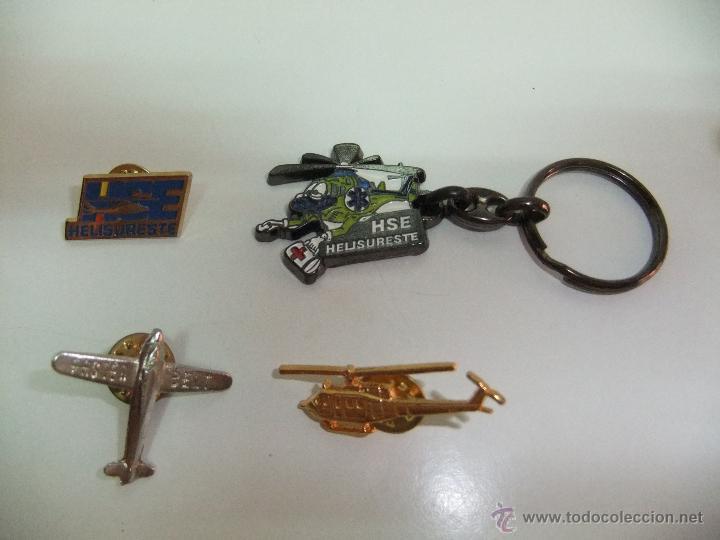 LOTE DE PINS DE AVION Y HELICOPTEROS. (Coleccionismo - Pins)