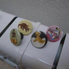 Pins de colección: 4 PINS CHAPA DE DINOSAURIOS. Lote 49419667