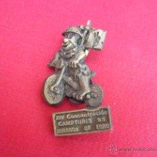 Pins de colección: PIN EN METAL. MOTOS. XIV CONCENTRACION CAMPTURIS 95. MIRANDA DE EBRO. 4,5 CM ALT.. Lote 49934857