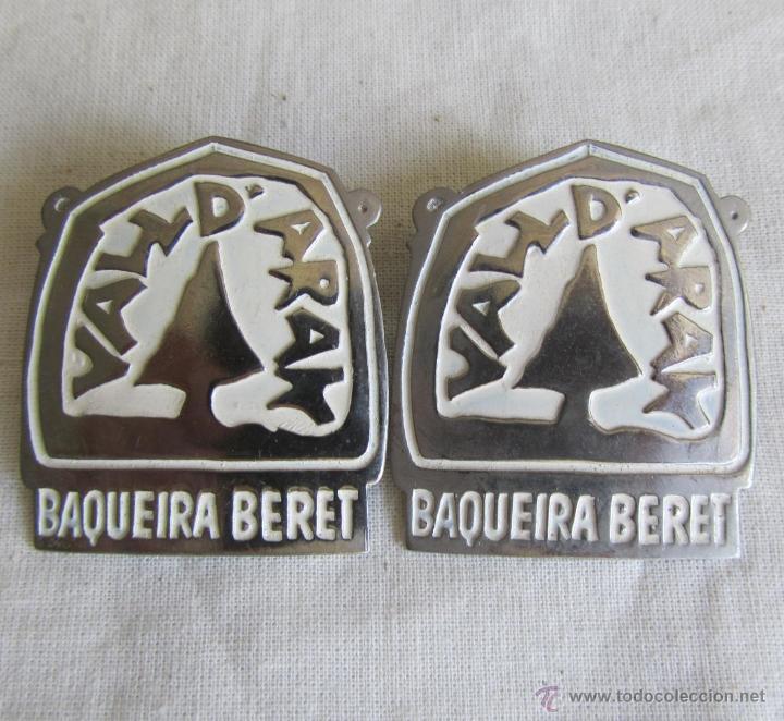 2 PINS GRANDES INSIGNIA ALFILER BAQUEIRA BERET (Coleccionismo - Pins)