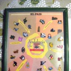 Pins de colección: COLECCIÓN COMPLETA 37 PINS ANDALUCÍA EN EL CORAZÓN EL PAÍS. Lote 50970909