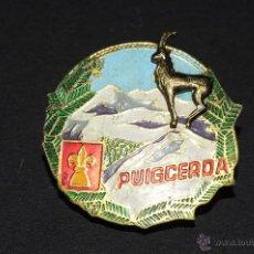 Pins de colección: PIN INSIGNIA EN RELIEVE DE AGUJA IMPERDIBLE PUIGCERDA. Lote 51062062