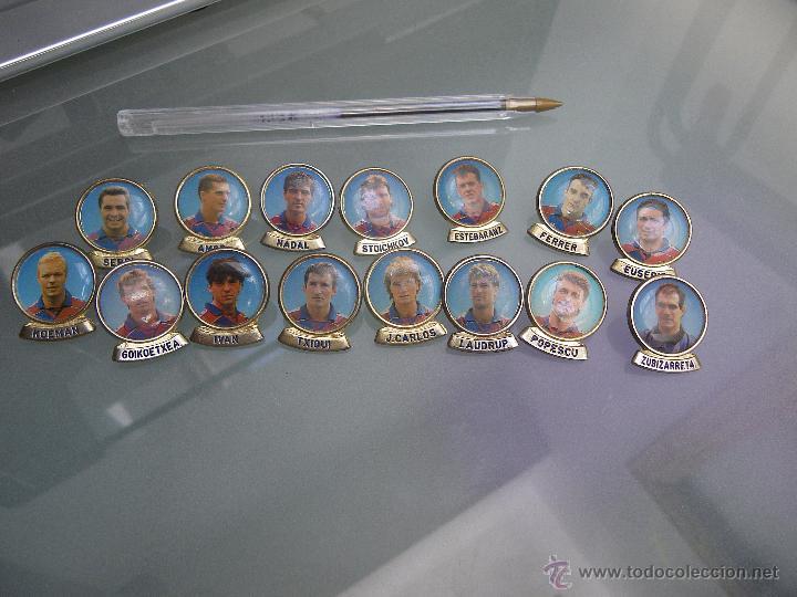 15 PINS BARÇA (KOEMAN, NADAL, LAUDRUP. . . (Coleccionismo - Pins)