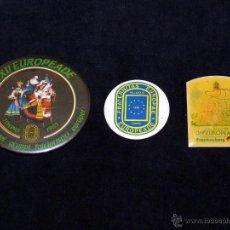 Pins de colección: LOTE DE 3 AGUJAS PIN EUROPEADE FOLCLORE FOLKLORE. VARIOS AÑOS. Lote 51607718