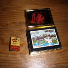 Pins de colección: PIN EXPO92 CORREOS Y ESPAÑA82,IMPECABLES. Lote 52002224