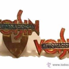 Pins de colección: ANTIGUAS INSIGNIA BISCUTER VOISIN AUTONACIONAL. Lote 51176327