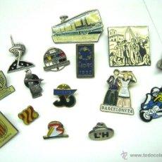 Pins de colección: LOTE 15 PINS BARCELONA . Lote 52337009