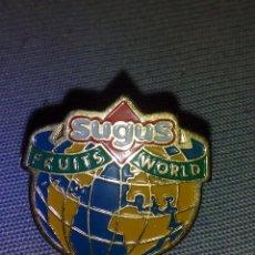 Pins de colección: ANTIGUO PIN,SUGUS FRUITS WORL.. Lote 52446654