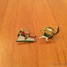 Pins de colección: COBI CESTA PUNTA Y COBI HOKEY. PIN OFICIAL MASCOTA OLÍMPICA BARCELONA 92. Lote 52727866