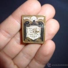 Pins de colección: ANTIGUA INSIGNIA MOVILIZACION CULTURAL MEDICO PRACTICA, MADRID 1941, MEDICINA. Lote 53017270
