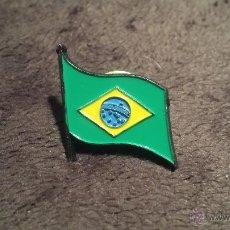 Pins de colección: PIN DE BANDERA DE BRASIL. Lote 53355072