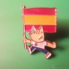 Pins de colección: PIN'S DEL COBI BANDERA DE ESPAÑA DE LAS OLIMPIADAS DE BARCELONA 92. Lote 54300104