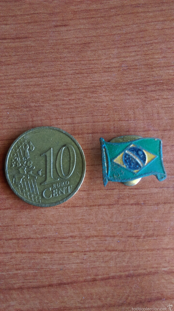 ANTIGUO PIN BANDERA DEL BRASIL (Coleccionismo - Pins)