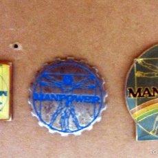 Pins de colección: LOTE 3 PINS DISTINTOS MANPOWER LEONARDO DA VINCI. Lote 55159427