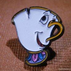 Pins de colección: PIN ORIGINAL DISNEY - CHIP - TAZA - LA BELLA Y LA BESTIA - AÑOS 90 - ONE TOP -. Lote 56156402