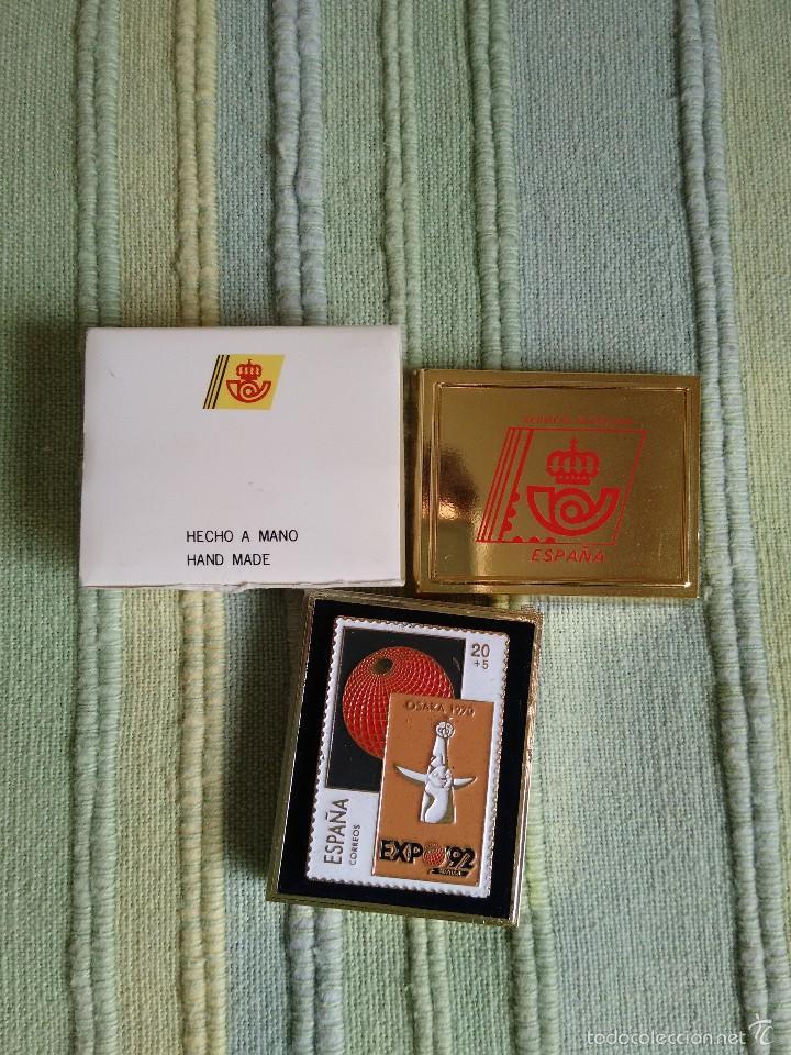 Pins de colección: PIN SELLO DE LA EXPO 92, SEVILLA. SELLO OSAKA. Caja original. Excelente estado, como nuevo - Foto 2 - 57072850