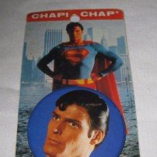 Pins de colección: CHAPA SUPERMAN CHAPI CHAP ORIGINAL CON CARTON.. Lote 57079783