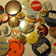 Pins de colección: LOTE 24 CHAPAS DE VARIOS TAMAÑOS SONY VOLUNTARIO CRUZ ROJA QSS BANCO CENTRAL. Lote 98607087