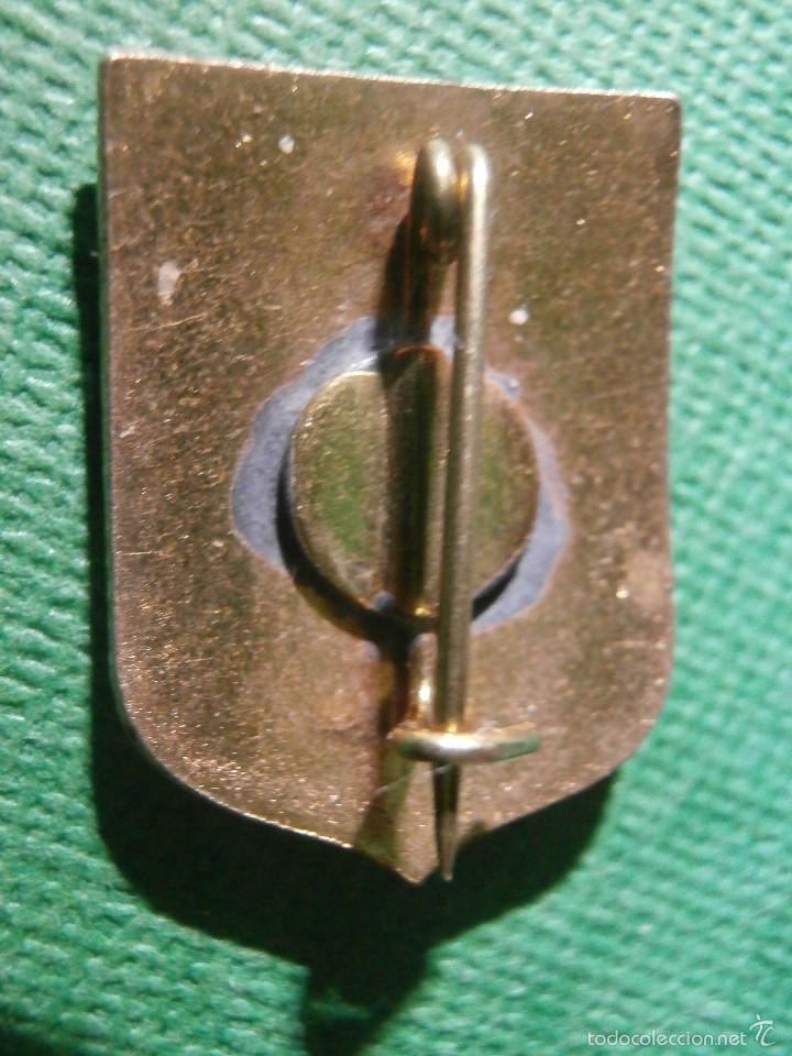Pins de colección: Muy antigua Insignia esmaltada de imperdible - DEUS SCIENTIARUM DOMINUS - Dios Señor de las Ciencias - Foto 4 - 57585073