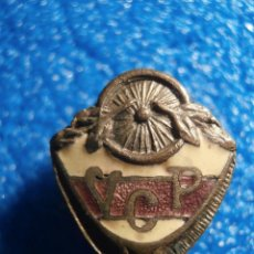 Pins de colección: ANTIGUA INSIGNIA ESMALTADA DE OJAL - V.C.P - VELO CLUB PORCHINET.. Lote 57859132