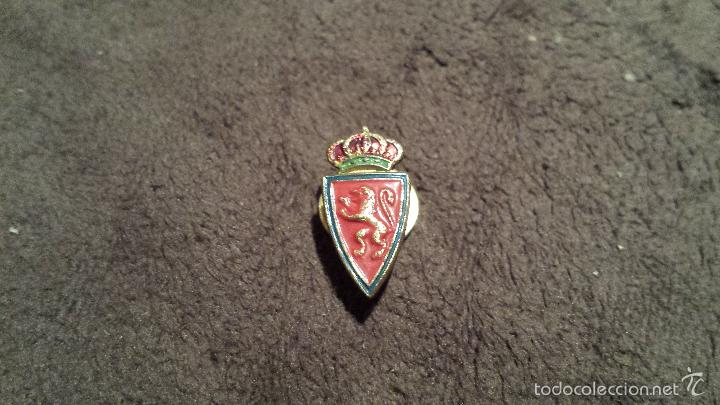 fe2918fa429be PIN ANTIGUO ESCUDO EQUIPO CLUB FUTBOL REAL ZARAGOZA ( INSIGNIA ANTIGUA CLUB  DE ARAGON DE OJAL
