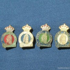 Pins de colección: LOTE DE 4 INSIGNIAS O PINS DE COÑAC DECANO CABALLERO.EL PUERTO DE SANTA MARIA.DIFERENTES COLORES.. Lote 57977237