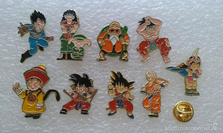 LOTE 9 PINS GOKU DRAGON BALL BOLA DE DRAGON (Coleccionismos - Pins)