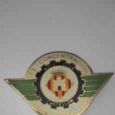 Pins de colección: PIN SEGUNDA CONCENTRACIÓN MOTO CLUB CASTELLON 1978. Lote 62426432